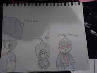 Matthew meets Beast Boy and Martian Manhunter by marcusderjr