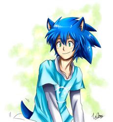 Sonic Human by Unichrome-uni
