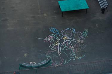 Princess Celestia - My First Huge Street Art :D by Gryphonia