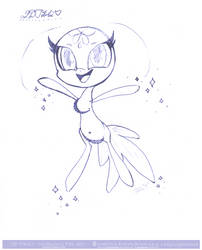 2D Tikki - Free To Colour by Gryphonia