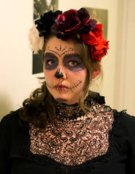 Halloween 2013 - Sugar skull inspired make-up by Anjet