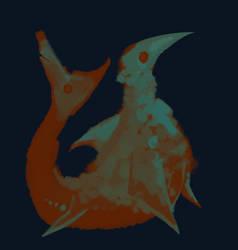 Brush Test Bird Fish by CoffeeSnake