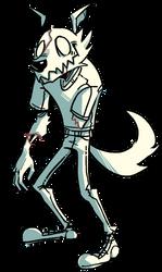 Drawtober Angular Zombie Wolf by CoffeeSnake
