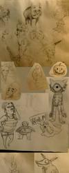 October Sketch/Doodle Comp 1 by CoffeeSnake