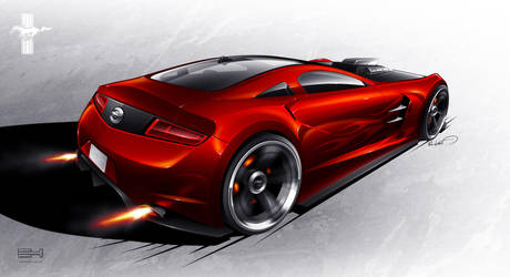 Ford Mustang concept - rear by emrEHusmen