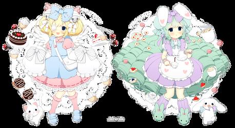 .+: Cutesu and Miruku :+. by CakexChan