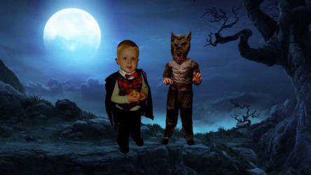 Vampire and Werewolf by Natt2004