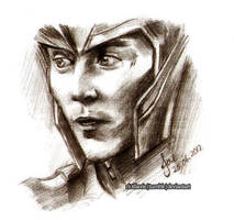 Loki - It's Too Late (Sketch) by riotfaerie