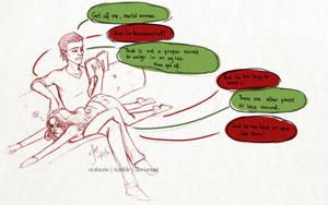 Loki x Darcy - 'Lazy Darcy' by riotfaerie