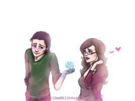 Loki X Darcy - Valentine's by riotfaerie