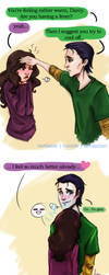 Loki x Darcy - Cooling Off by riotfaerie