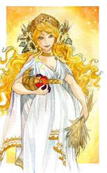 - Demeter - Greek  Goddess of Harvest  - by ooneithoo