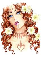 -  Elisheva - Cactus flower - by ooneithoo
