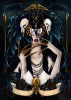 - Birds Masquerade - La Reine Corneille - by ooneithoo