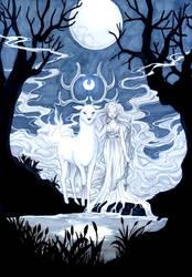 - Full Moon - by ooneithoo