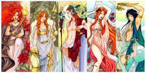 - Agape - Greek Gods Art nouveau II - by ooneithoo