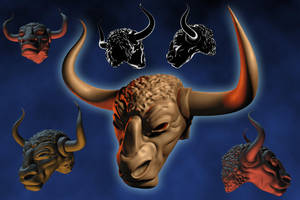 Bull Helm by kevhopgood