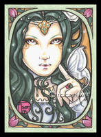 Emerald Nouveau And Butterfly by natamon