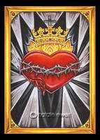 Sacred Heart Of Christ Icon by natamon