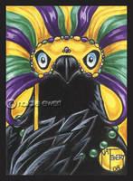 Mardi Gras Raven by natamon