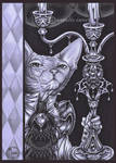 Hairless Cat and Candelabra by natamon