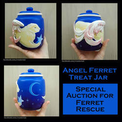 Angel Ferret Treat Jar For Auction by natamon
