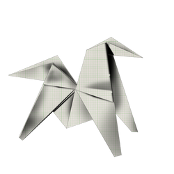 cheval origami by amanwithoutmind