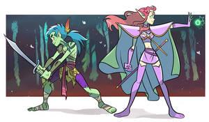 the jungle warrior and the elf princess by Sofia-