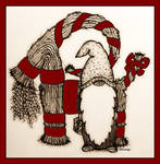 Yule Goat Red by number9design