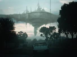 Alien Ship Concept by vshen