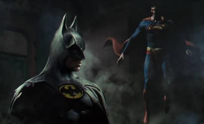 Batman V Superman by vshen