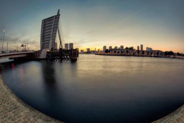 Rotterdam - Erasmus bridge by Witoldhippie
