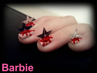 Ninja Star Nails by BarbieNailArt