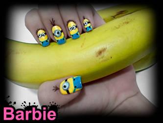 Minion Nails by BarbieNailArt