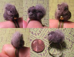 Fluffy Squirrel Ring by Zinkyu