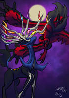Xerneas Yveltal by malino555