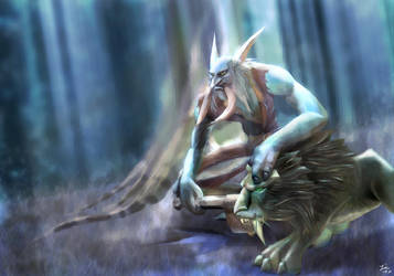Ajk, beast tamer by Edstroem