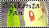 Brawl: Chikorita Fan Stamp by WolfTwilight