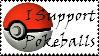 Brawl: Support Pokeballs Stamp by WolfTwilight