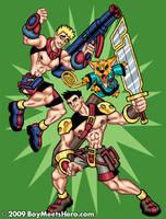 Fantasy-Bros: Crash and Dagger by Boy-Meets-Hero