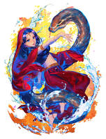 snake charmer by simosi