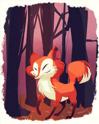 autumn  fox by coffeebandit