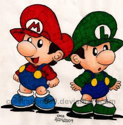 Baby Mario Bros by cmdixon589