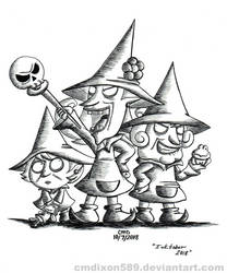 Inktober Day 7: Which Witch Is Which by cmdixon589