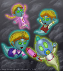 Ghastly Group of Ghostly Ghouls by cmdixon589