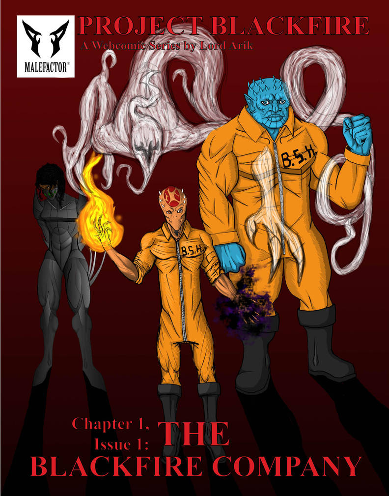 Project Blackfire Issue 1.1 Variant Cover by TheBlackFireCompany