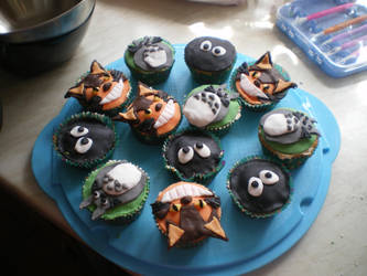 My Neighbor Totoro Cupcakes. by WolfWarrior9