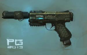 Pistol concept by ProxyGreen