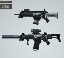 Police gun concept by ProxyGreen