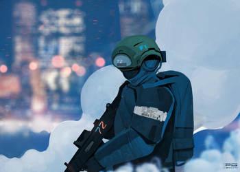 Cyber trooper XI by ProxyGreen